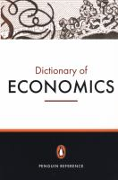 Cover image for The Penguin dictionary of economics