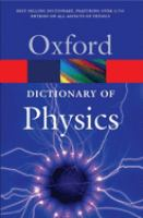 Cover image for A dictionary of physics