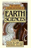 Cover image for The concise oxford dictionary of earth sciences