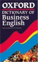 Cover image for Oxford dictionary of business English : for learners of English
