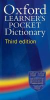 Cover image for Oxford learner's pocket dictionary