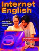Cover image for Internet English :  WWW-based communication activities