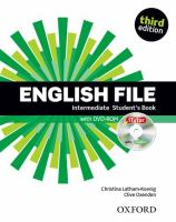 Cover image for English file : intermediate student's book