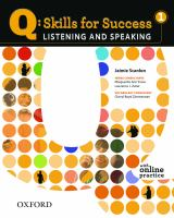Cover image for Listening and speaking