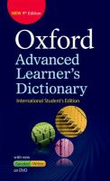 Cover image for Oxford Advanced Learner's Dictionary of Current English