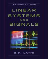 Cover image for Linear systems and signals