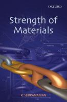Cover image for Strength of materials