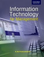 Cover image for Information technology for management