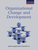 Cover image for Organizational change and development