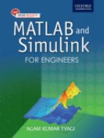 Cover image for Matlab and Simulink for engineers