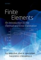 Cover image for Finite elements : an introduction to the method and error estimation
