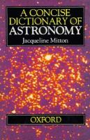 Cover image for A concise dictionary of astronomy