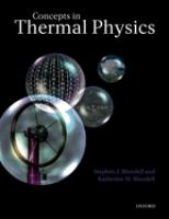 Cover image for Concepts in thermal physics