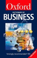 Cover image for A dictionary of business.