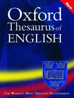 Cover image for Oxford thesaurus of English
