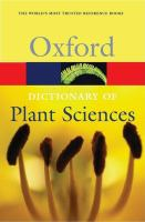 Cover image for Oxford dictionary of plant sciences