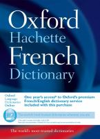 Cover image for The Oxford-Hachette French dictionary : French-English, English-French