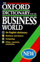 Cover image for The Oxford dictionary for the business world