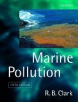 Cover image for Marine pollution