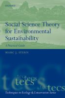 Cover image for Social Science Theory for Environmental Sustainability : A Practical Guide