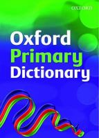 Cover image for Oxford primary dictionary