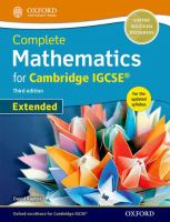 Cover image for Extended mathematics for Cambridge IGCSE