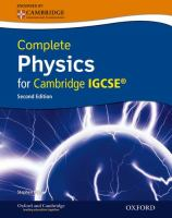 Cover image for Complete physics for cambridge IGCSE