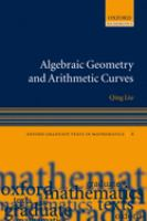 Cover image for Algebraic geometry and arithmetic curves
