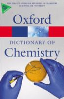 Cover image for A dictionary of chemistry