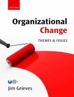 Cover image for Organizational change : themes & issues