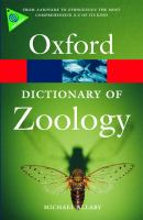 Cover image for A Dictionary of zoology