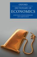Cover image for A dictionary of economics