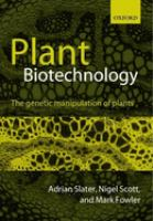 Cover image for Plant biotechnology : the genetic manipulation of plants