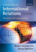 Cover image for Introduction to international relations : theories and approaches