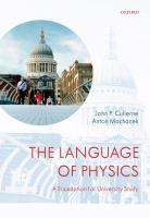 Cover image for The language of physics : a foundation for university study