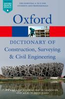 Cover image for A dictionary of construction, surveying, and civil engineering
