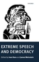 Cover image for Extreme speech and democracy