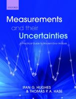 Cover image for Measurements and their uncertainties : a practical guide to modern error analysis