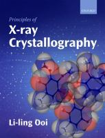 Cover image for Principles of x-ray crystallography