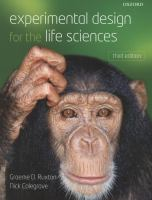 Cover image for Experimental design for the life sciences