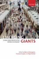 Cover image for Emerging giants : China and India in the world economy