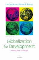 Cover image for Globalization for development : meeting new challenges