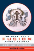 Cover image for The quest for a fusion energy reactor : an insider's account of the INTOR Workshop