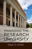 Cover image for Managing the research university