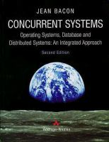 Cover image for Concurrent systems : operating systems, database and distributed systems : an integrated apporoach