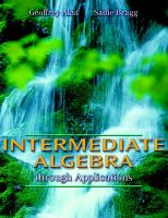 Cover image for Intermediate Algebra : through Applications