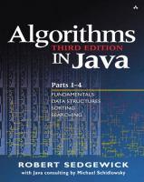 Cover image for Algorithms in Java