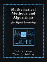 Cover image for Mathematical methods and algorithms for signal processing
