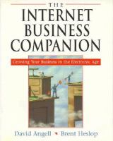 Cover image for The Internet business companion : growing your business in the electronic age