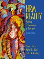 Cover image for HRM reality : bputting competence in context